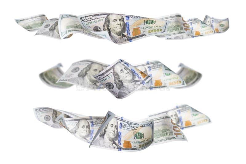 Ensemble de trois cent dollars Bill Horizontal Graphic Photos image stock