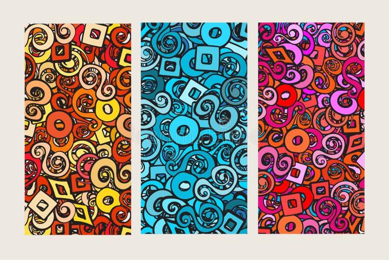 Ensemble de trois milieux colorés illustration de vecteur
