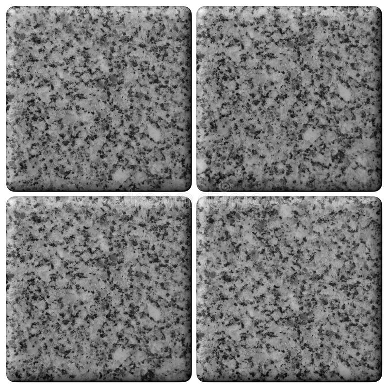Ensemble de tuiles de granit. photo stock