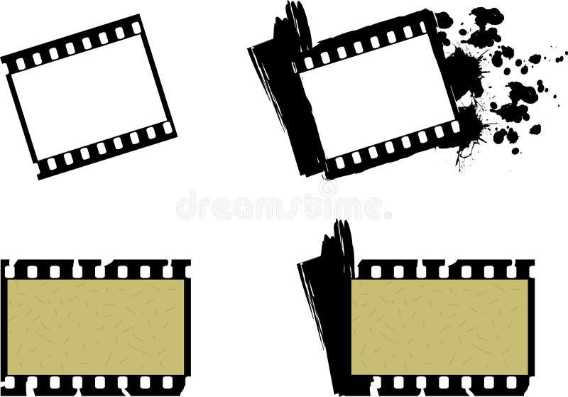 Ensemble de type de cru de trames de film photographique illustration libre de droits