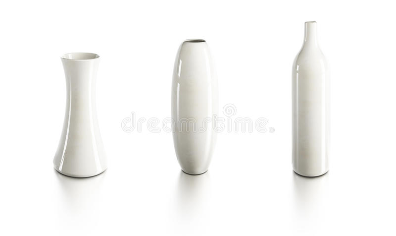 Ensemble de vases en céramique illustration libre de droits