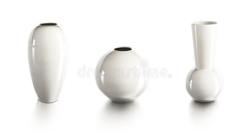 Ensemble de vases en céramique illustration de vecteur