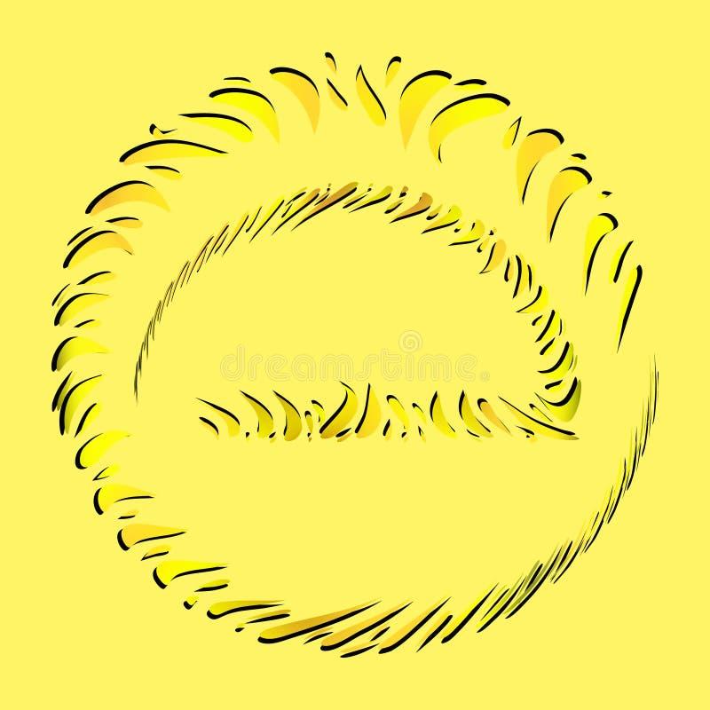 Ensemble de vecteur de cadres solaires des éléments jaunes et oranges en Th illustration libre de droits