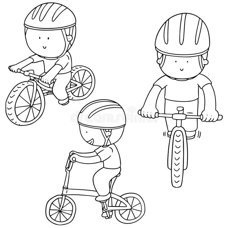 Ensemble de vecteur de cycliste illustration libre de droits
