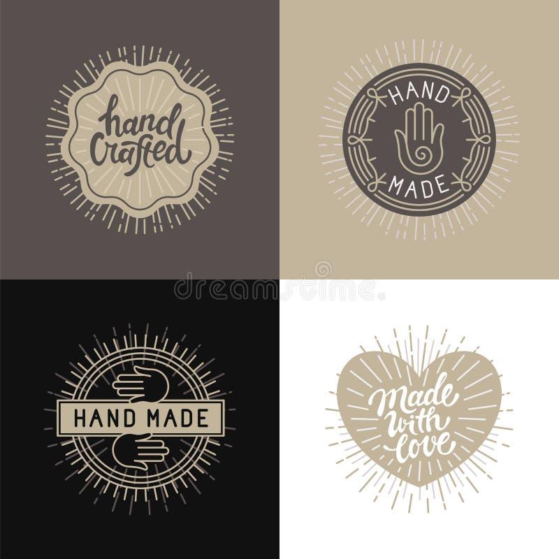Ensemble de vecteur d'éléments, d'insignes et de labels de conception dans le styl de vintage illustration libre de droits
