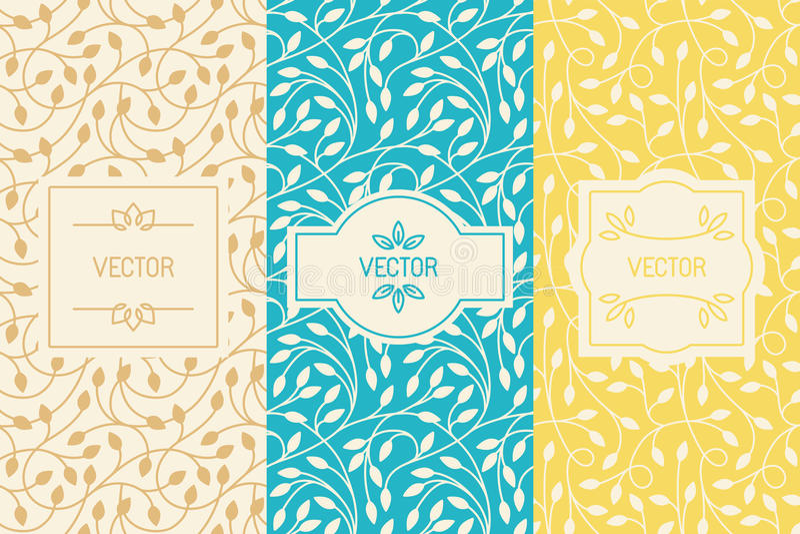 Ensemble de vecteur d'éléments de conception, de frontières et de cadres, patt sans couture illustration de vecteur