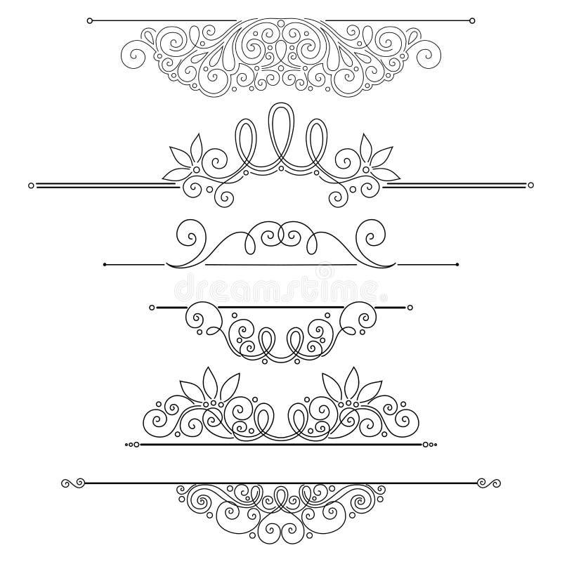 Download Ensemble De Vecteur D'éléments De Conception Et De Décorations Calligraphiques De Page Illustration de Vecteur - Illustration du boutique, décoration: 56482622