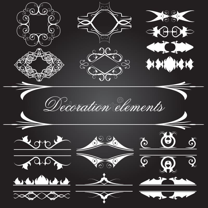 Ensemble de vecteur d'éléments de décoration de cru illustration de vecteur