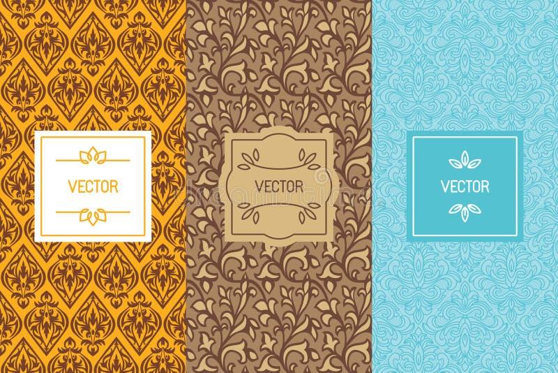 Ensemble de vecteur d'éléments et de calibres de conception pour la nourriture ou le chocolat illustration de vecteur