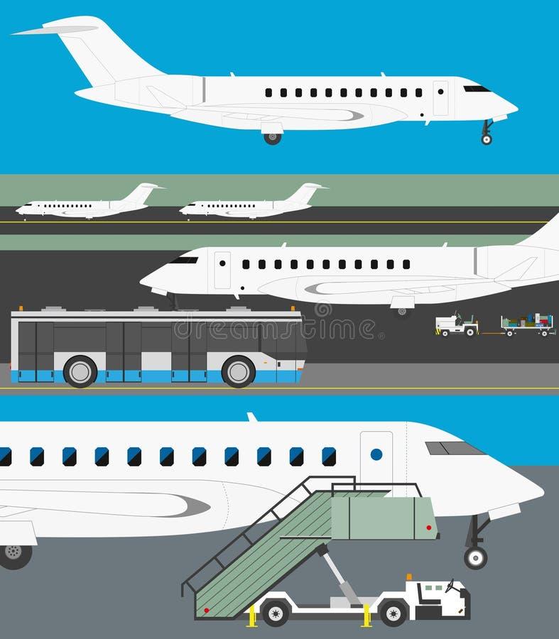 Ensemble de vecteur d'aéroport illustration de vecteur