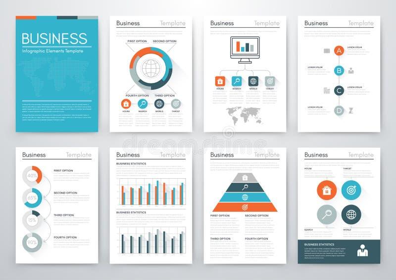 Ensemble de vecteur d'affaires d'infographics illustration libre de droits