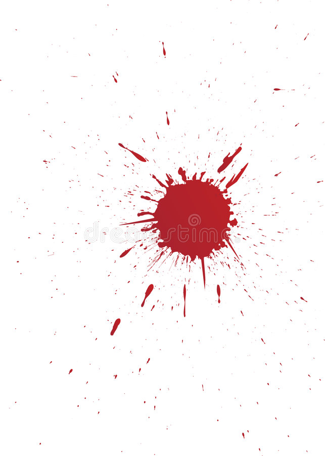 Ensemble de vecteur d'endroit de sang grunge pour votre conception illustration stock