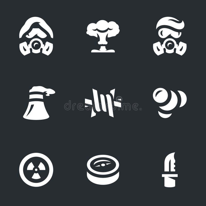 Ensemble de vecteur d'icônes de Courrier-apocalypse illustration stock