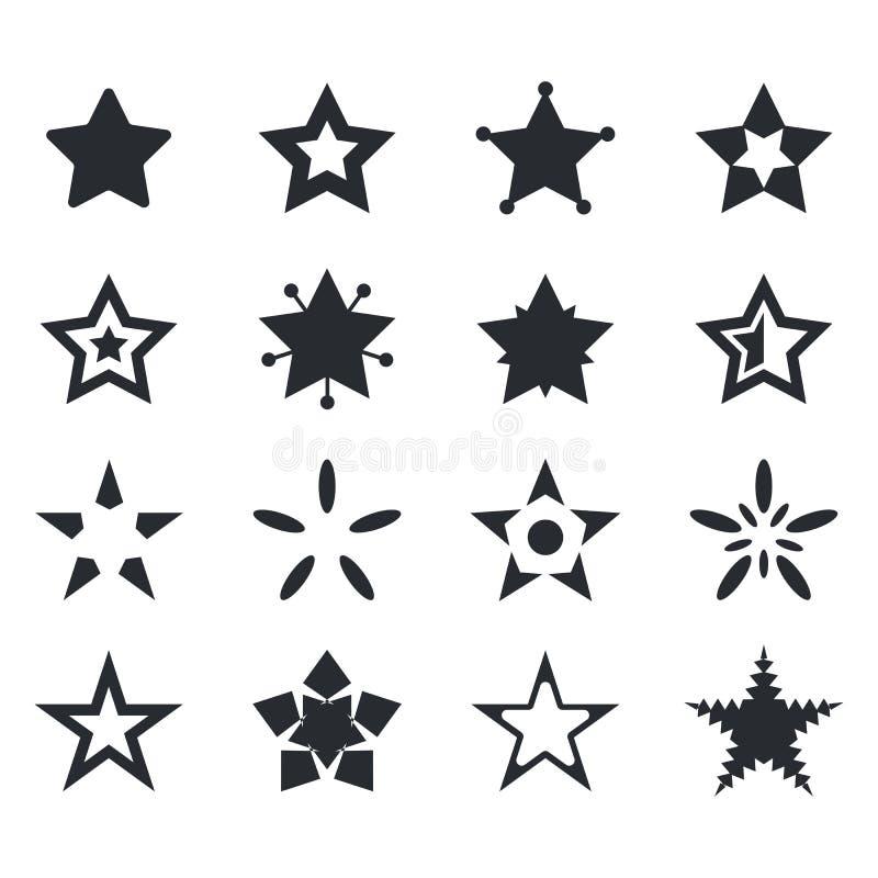 Ensemble de vecteur d'icônes d'étoile images stock