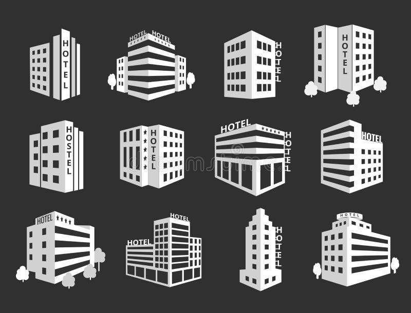 Ensemble de vecteur d'icônes d'hôtel illustration libre de droits