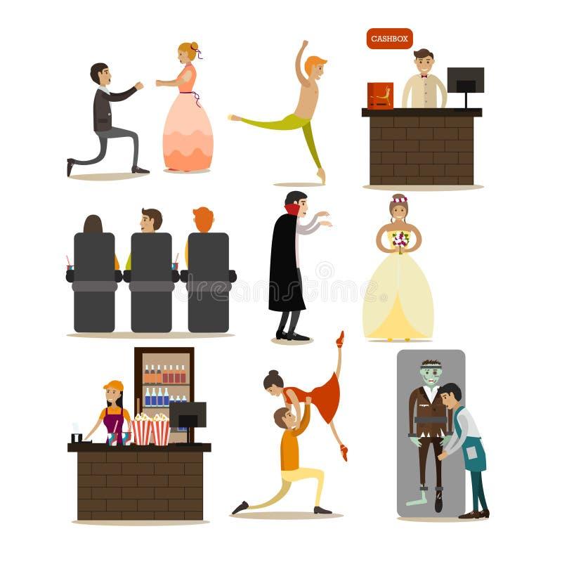 Download Ensemble De Vecteur D'icônes De Concept D'opéra, éléments Plats De Conception De Style Illustration de Vecteur - Illustration du assistances, café: 87706648