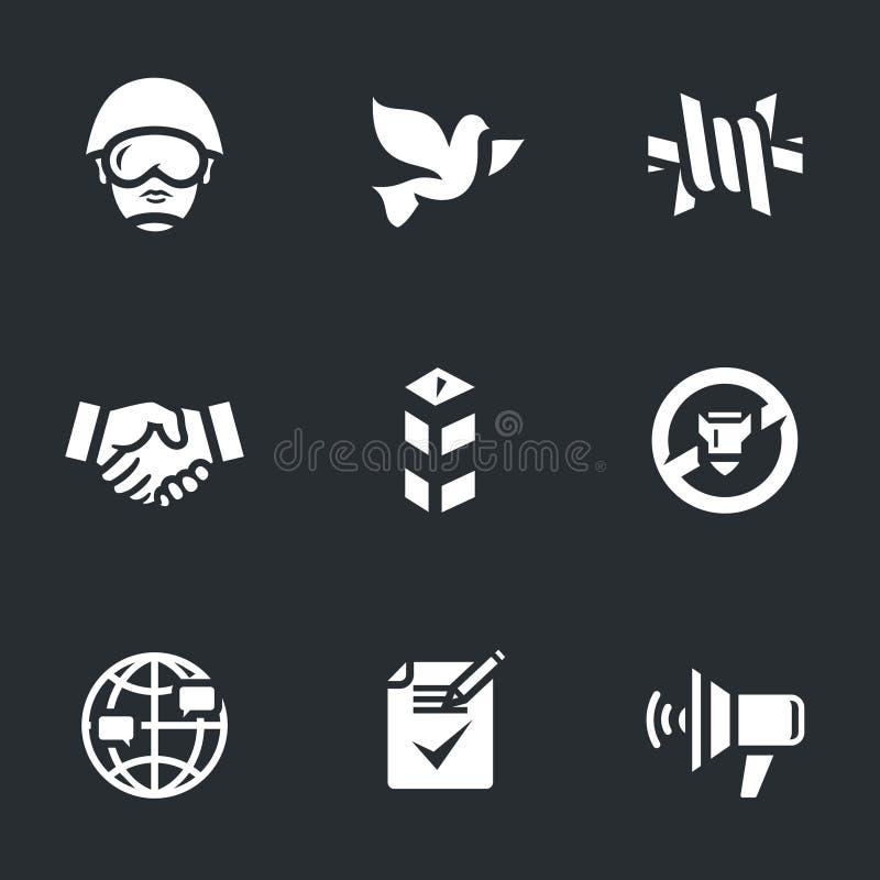 Ensemble de vecteur d'icônes de conciliateur illustration libre de droits