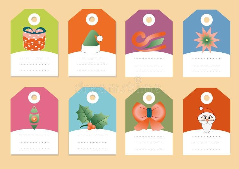 Ensemble de vecteur d'icônes de Noël illustration stock