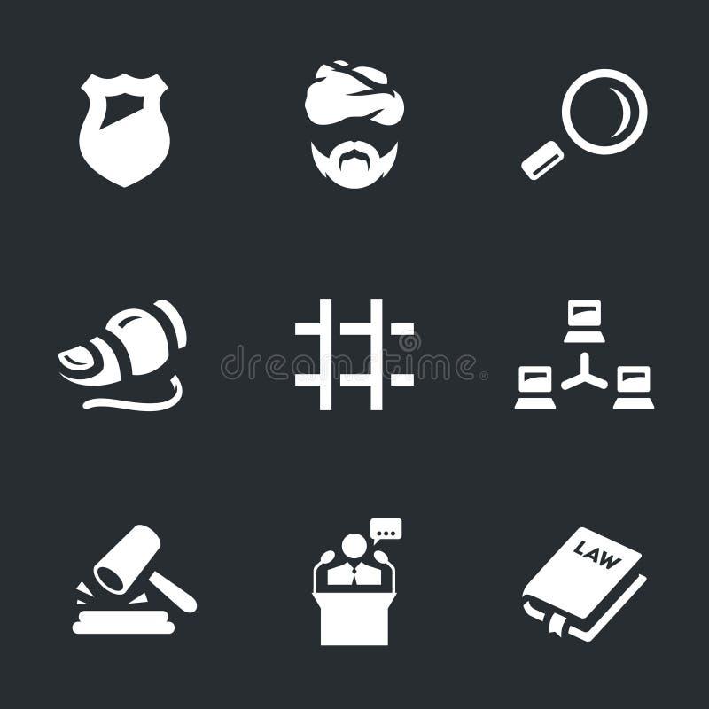 Ensemble de vecteur d'icônes de sécurité d'Internet illustration libre de droits