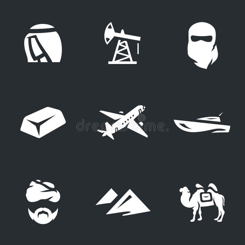 Ensemble de vecteur d'icônes des EAU illustration de vecteur