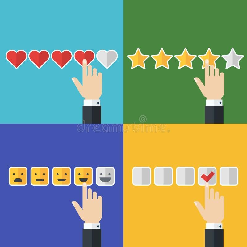 Ensemble de vecteur d'icônes plates d'affaires Concept pour le service client, illustration de vecteur