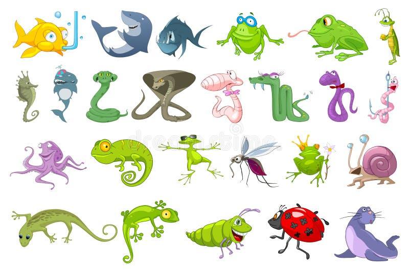 Ensemble de vecteur d'illustrations d'animaux illustration libre de droits
