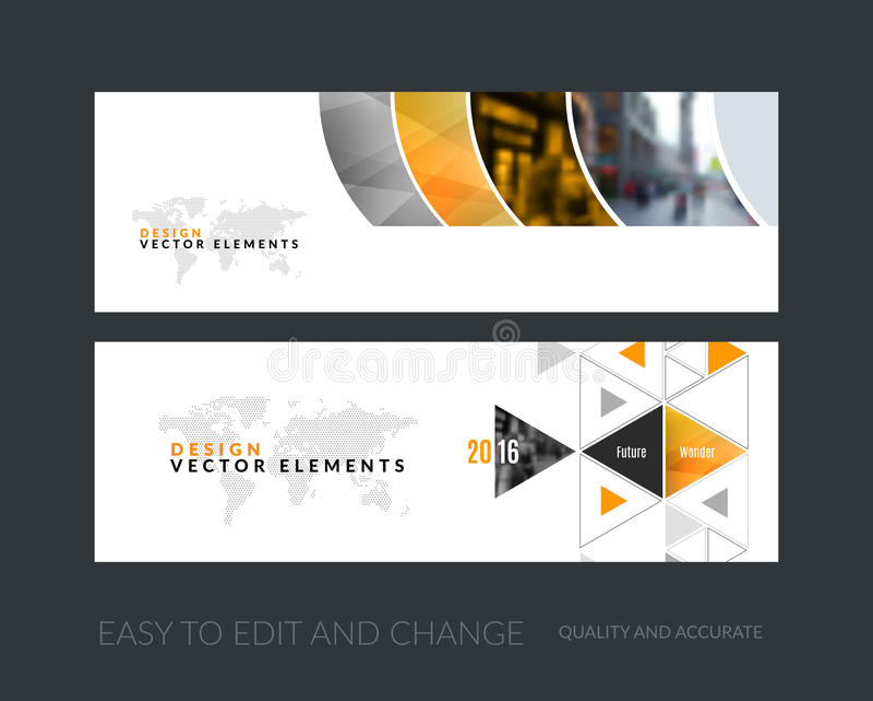 Ensemble de vecteur de bannières horizontales modernes de site Web avec g coloré illustration de vecteur