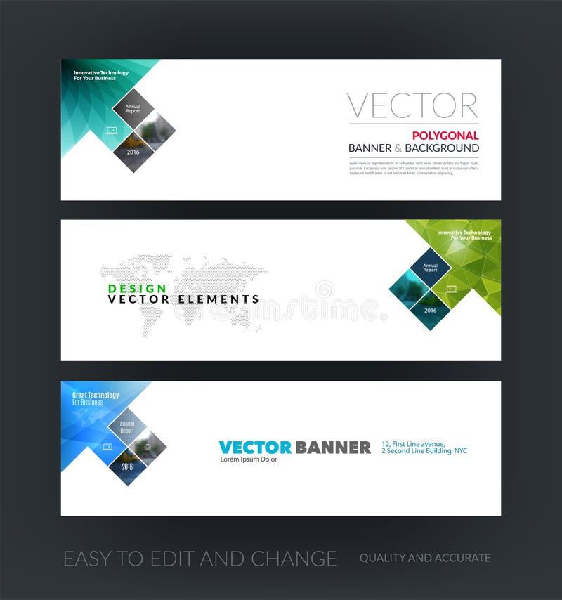 Ensemble de vecteur de bannières horizontales modernes de site Web avec la flèche, rect illustration de vecteur
