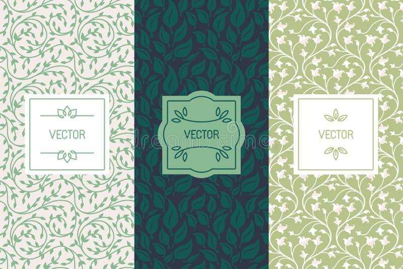 Ensemble de vecteur de calibres de conception d'emballage pour des cosmétiques, beauté p illustration de vecteur