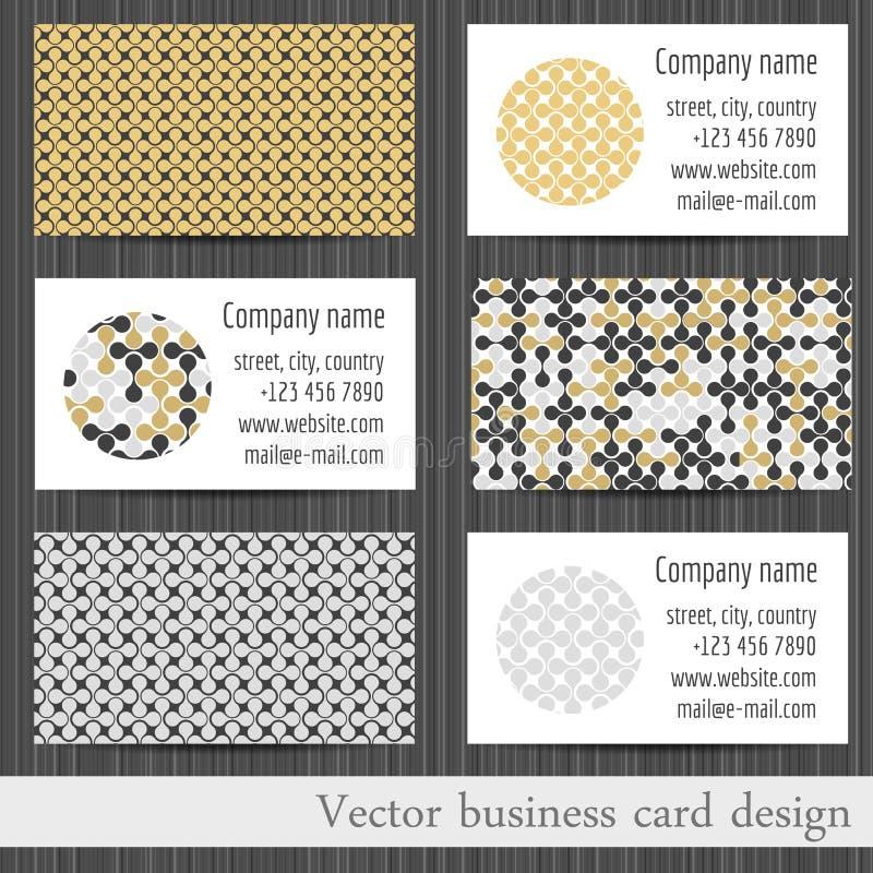 Ensemble de vecteur de fond abstrait de calibres de cartes de visite professionnelle de visite illustration de vecteur