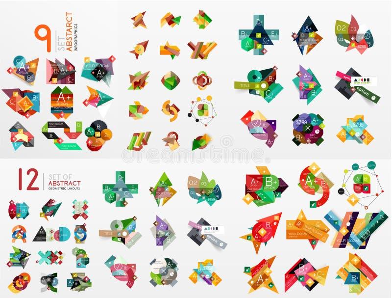 Ensemble de vecteur de graphiques de papier illustration de vecteur