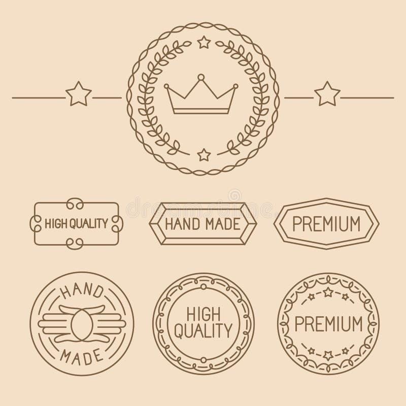 Ensemble de vecteur de ligne insignes et logos illustration stock