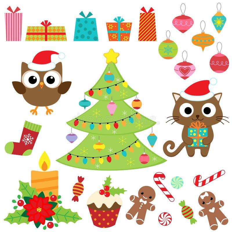 Ensemble de vecteur de Noël illustration libre de droits