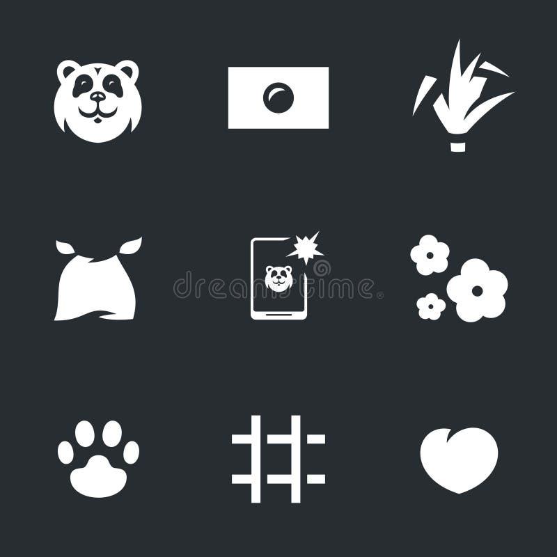 Download Ensemble De Vecteur De Panda Illustration de Vecteur - Illustration du beau, animal: 87704516