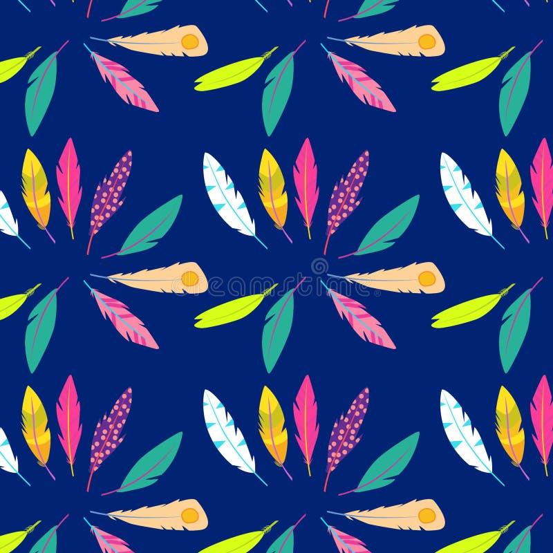 Ensemble de vecteur de plumes abstraites Illustration courante photos libres de droits