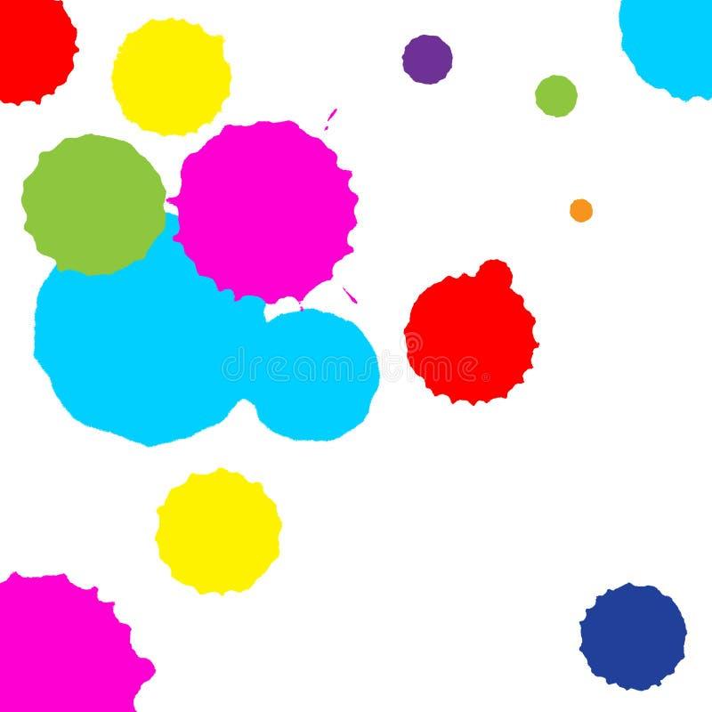 Ensemble de vecteur de taches colorées sur le fond blanc illustration de vecteur