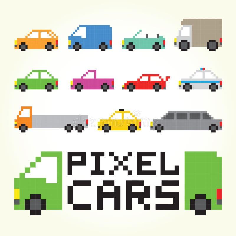 Ensemble de vecteur de voitures d'art de pixel illustration libre de droits