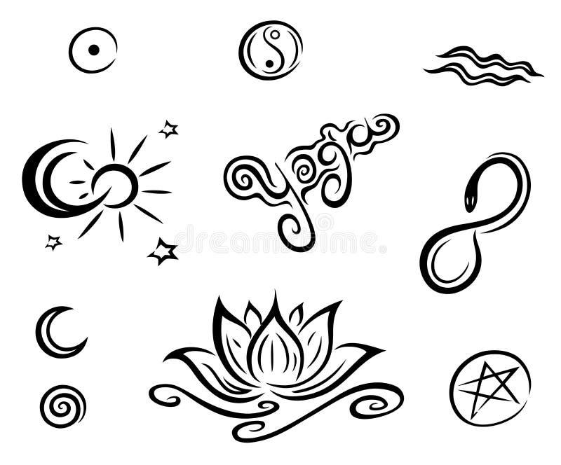 Ensemble de vecteur de yoga illustration stock