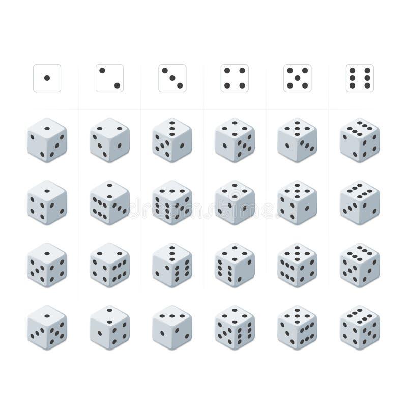 Ensemble de vecteur isométrique de matrices illustration stock