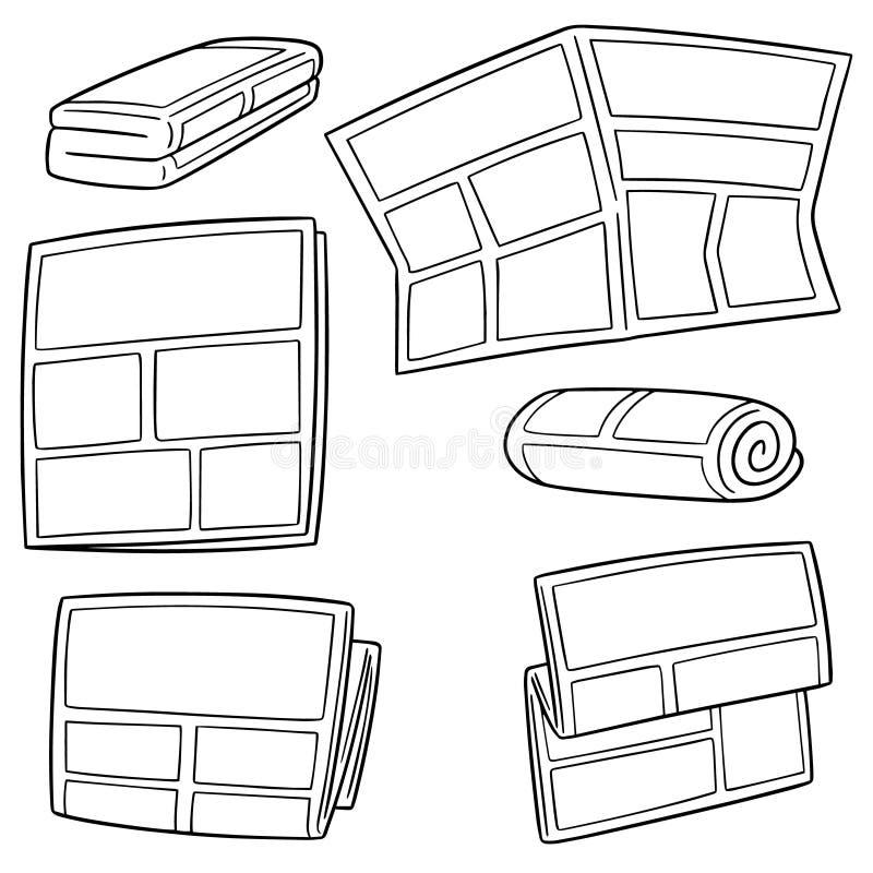 Ensemble de vecteur de journal illustration stock