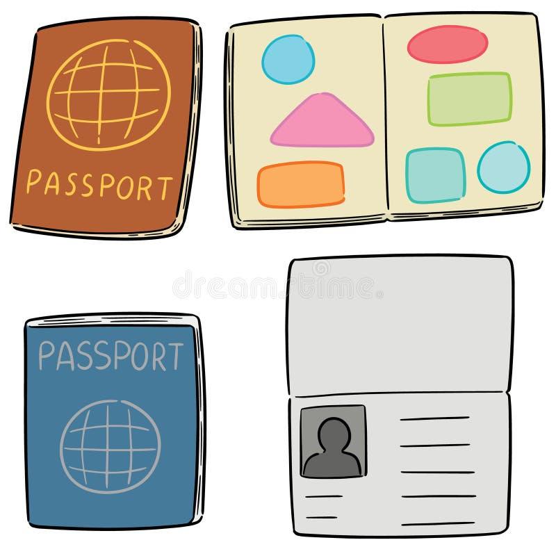 Ensemble de vecteur de passeport illustration libre de droits