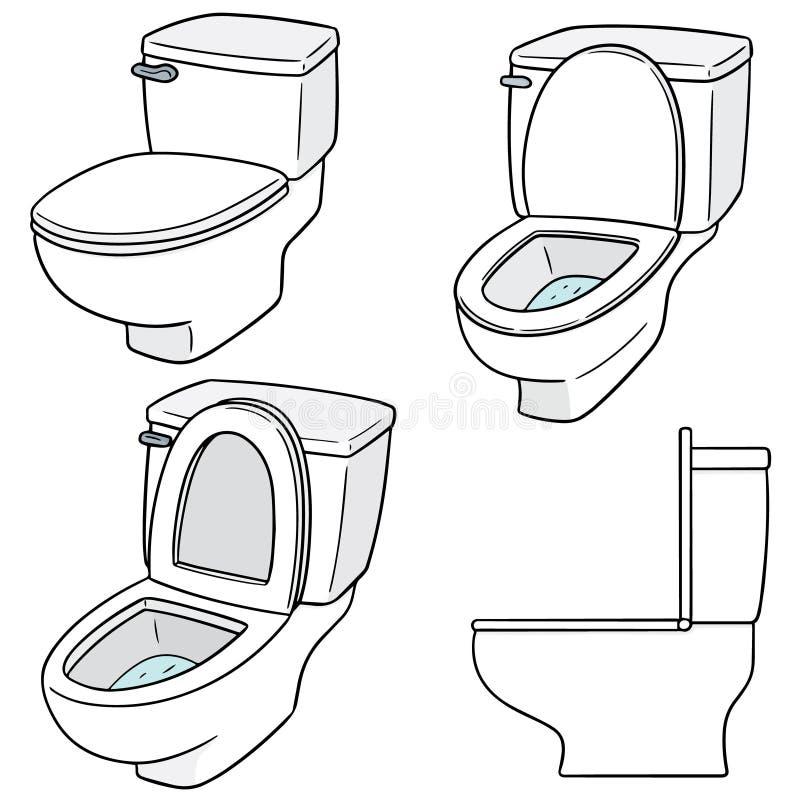 Ensemble de vecteur de toilette illustration de vecteur