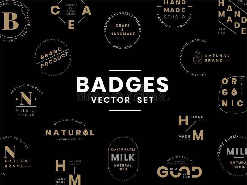 Ensemble de vecteurs de conception d'insigne de logo illustration libre de droits