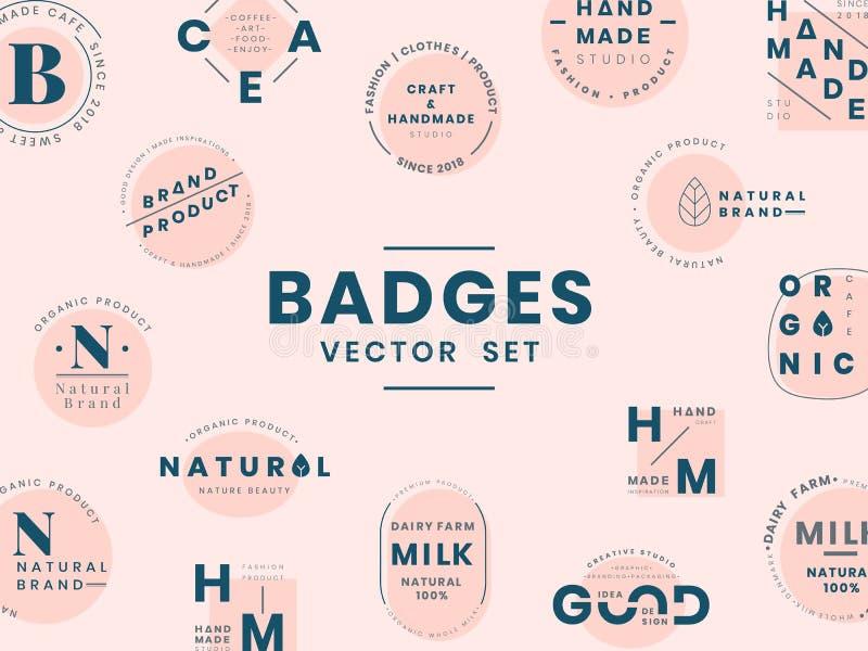 Ensemble de vecteurs de conception d'insigne de logo illustration de vecteur