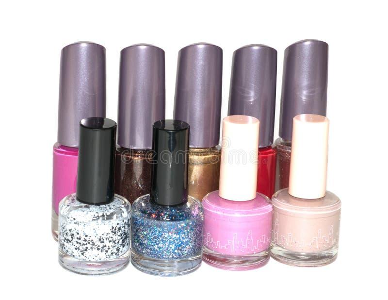 Ensemble de vernis à ongles multicolore image stock