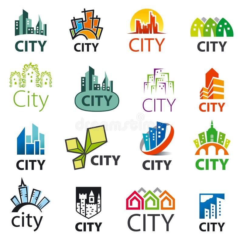 Ensemble de villes de logos de vecteur illustration libre de droits