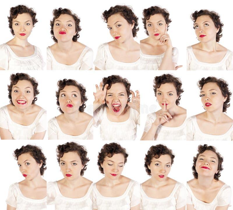 Ensemble de visages utiles photos stock