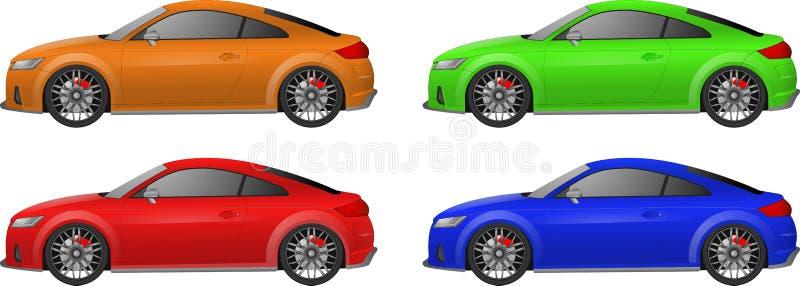 Ensemble de voiture de sport illustration stock