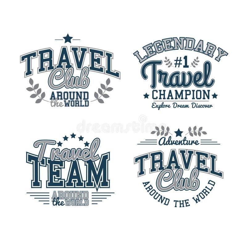 Ensemble de voyage illustration stock