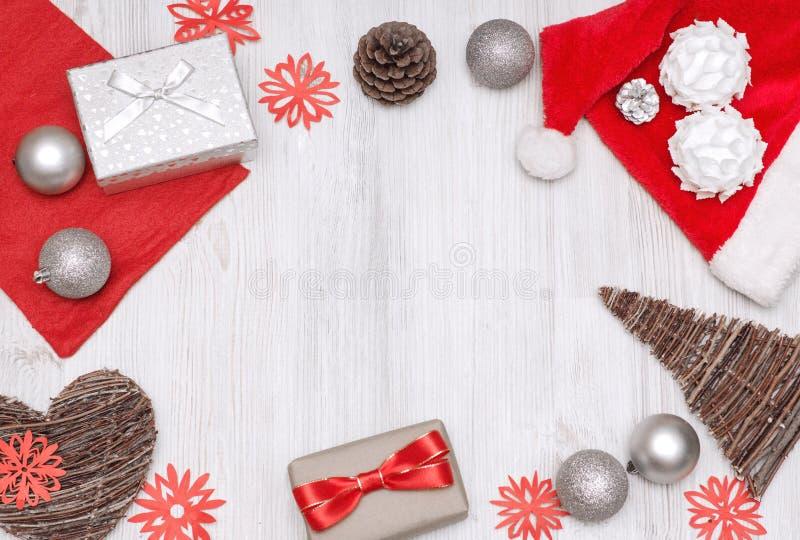 Ensemble de vue supérieure de Noël photographie stock
